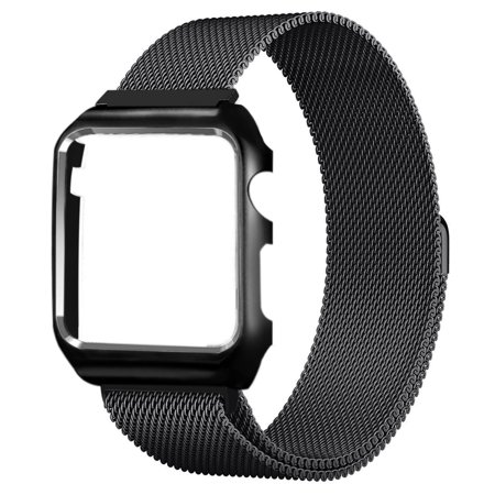Stainless Steel Milanese Loop Mesh Replacement Band With Frame Adjustable Magnetic Closure Clasp For Apple Watch Series 1  Series 2  Series 3  38Mm