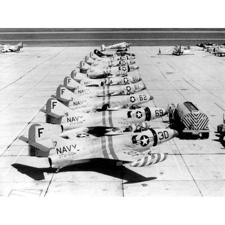 LAMINATED POSTER U.S. Navy Grumman F9F-2 Panther jets of Advanced Training Unit ATU-206 at Naval Air Station Pensacol Poster Print 24 x 36