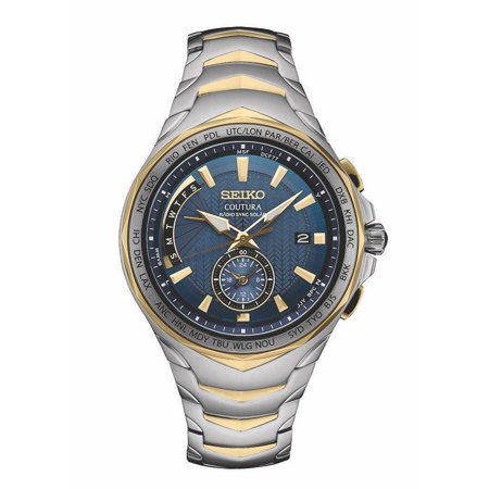 Seiko Dual Time - Seiko Men's Coutura Radio Synk Solar Duel Time Watch SSG020