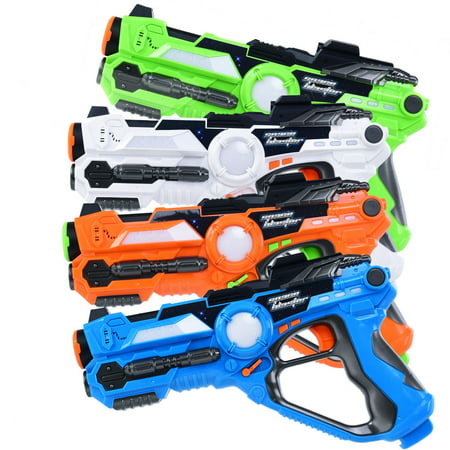 Costway Set of 4 Infrared Laser Tag Guns Indoor Outdoor 4 Players Team Group