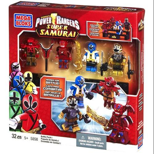 Power Rangers Super Samurai Battle Pack I Set Mega Bloks 5858