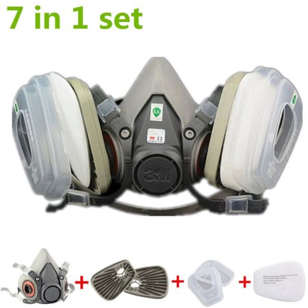 Suit 7 in 1 For Half Face Gas mask 6200 Spray Painting Protection