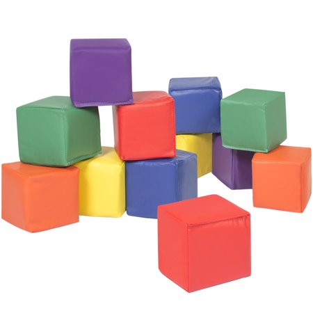 Best Choice Products 12 Piece Soft Big Foam Blocks Playset for Sensory, Motor Developmental Skills - (Large Foam Blocks)