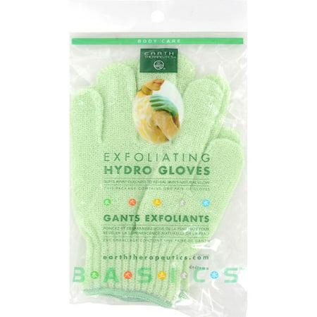 Earth Therapeutics Exfoliating Hydro Gloves White   1 Pair