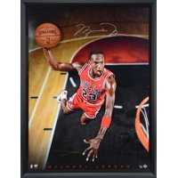 """Michael Jordan Chicago Bulls Framed Autographed 44"""" x 60"""" Cleared for Departure Breaking Through Photograph - Upper Deck - Limited Edition of 123 - Fanatics Authentic Certified"""