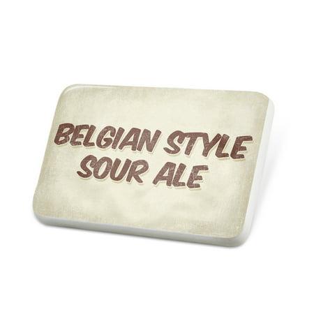 Sour Ale (Porcelein Pin Belgian Style Sour Ale Beer, Vintage style Lapel Badge –)