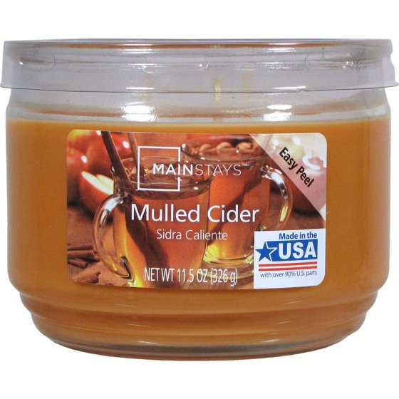 Mainstays 11 5 Oz Candle Mulled Cider