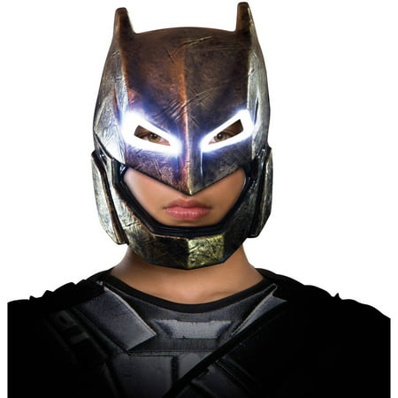 Batman v Superman: Dawn of Justice Batman Child Armored Light Up Mask, Halloween Accessory - V Halloween Mask