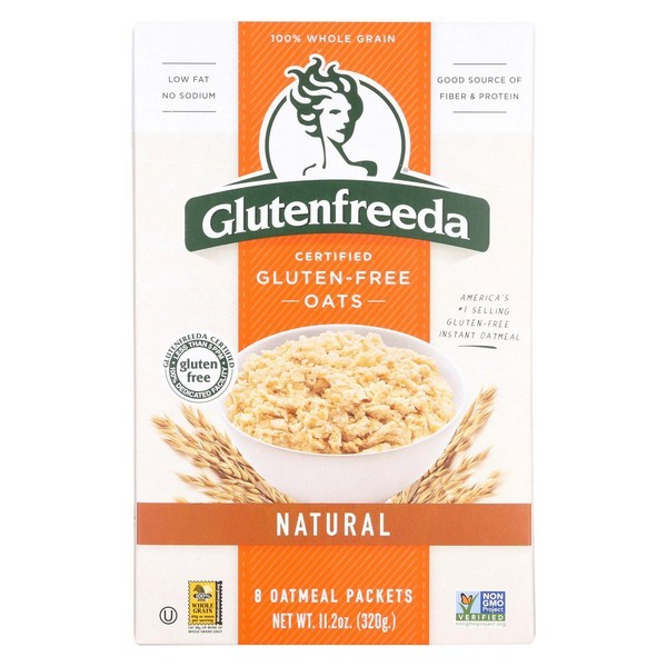 Gluten Freeda Natural Oatmeal - pack of 8 - 11.2 Oz.