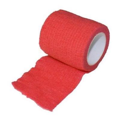 """SyrVet 2"""" Syrflex Cohesive Flexible Bandage Red"""