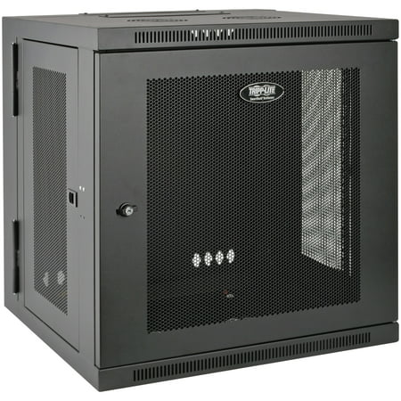 Tripp Lite SRW10US SmartRack 10U Low-Profile Switch-Depth Wall-Mount Rack Enclosure Cabinet
