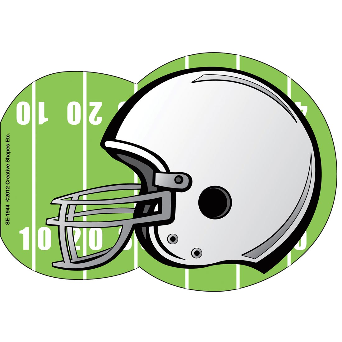 Creative Shapes Football Helmet Notepad