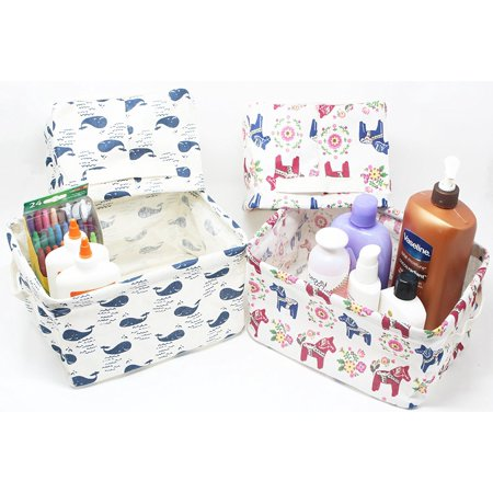 Set of 4 Fabric Storage Units, Storage Baskets, Storage Bins, Storage Containers,