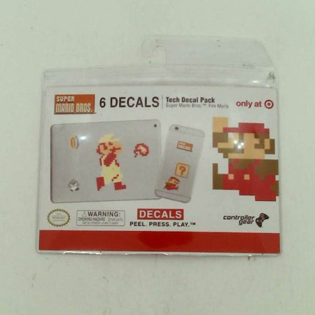 Image of Super Mario Bros Gaming Tech Decals Dungeon Fire Mario
