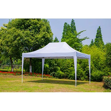 Erommy Outdoor 10x15 Ft Pop up Canopy Party Tent Heavy Duty Gazebos Shelters for Events,White