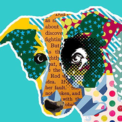 Pop Art Collie Dog 24x24 GICLEE 12 Color Art Print Poster by Claudia Sch?en