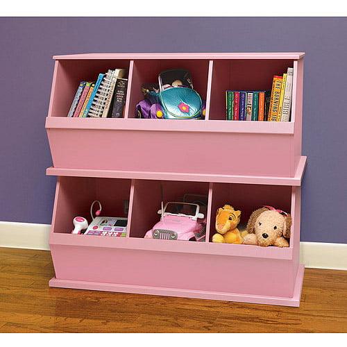 Badger Basket - Stackable Storage Cubbies, Pink