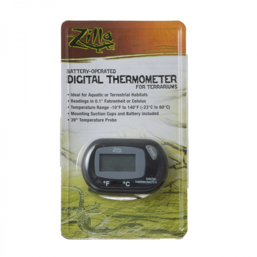 Zilla Battery-Operated Digital Thermometer for Terrariums 1 Pack
