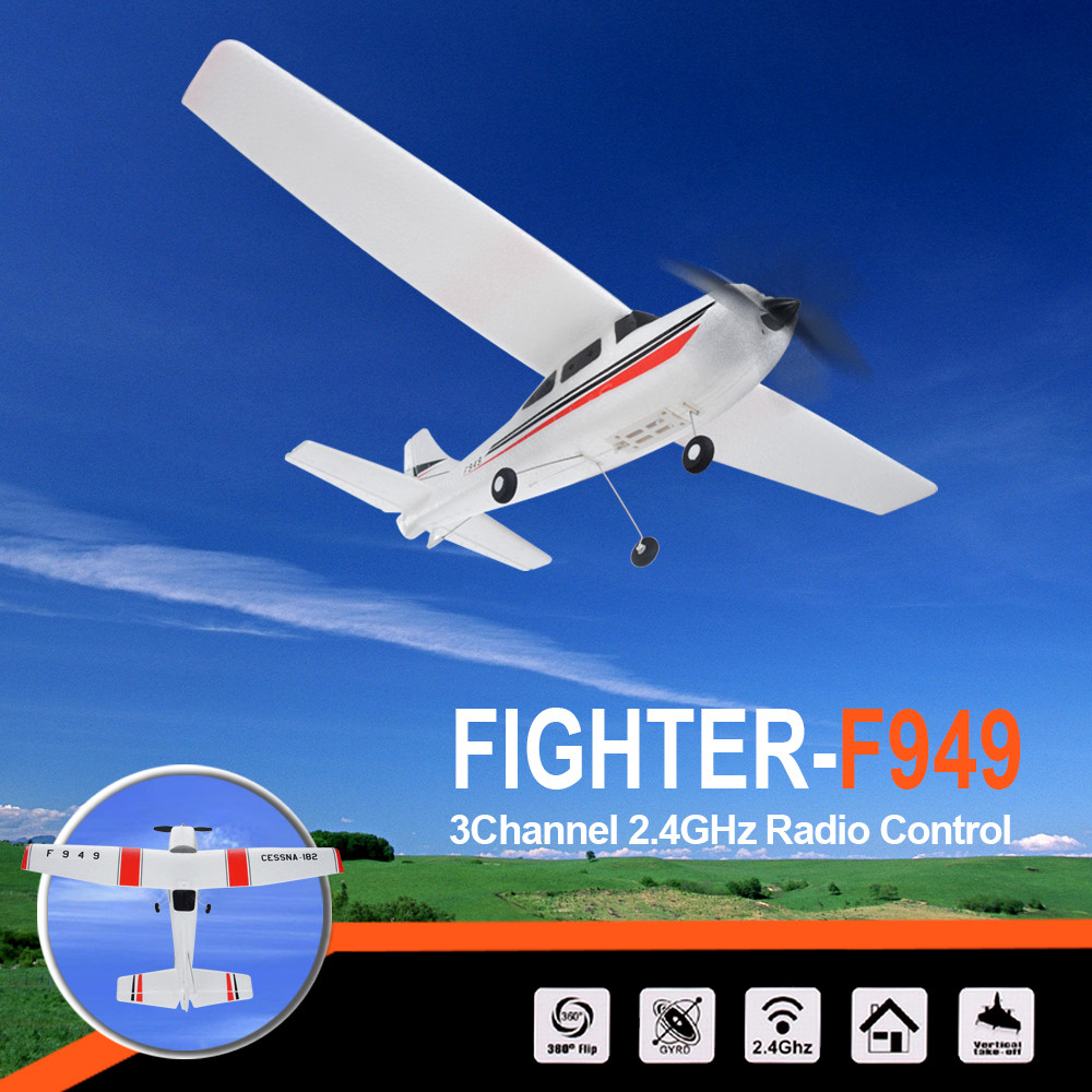 WLtoys F949 3CH 2.4G RC Airplane RTF Glider EPP Composite Material 14+ by