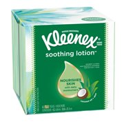 Kleenex Soothing Lotion Coconut Oil, Aloe and Vitamin E Facial Tissue, 65 Count, White