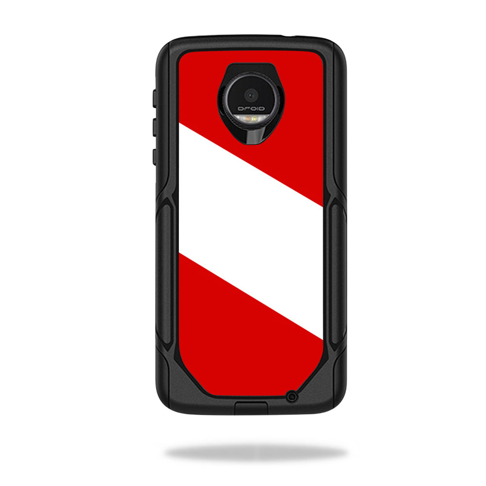 MightySkins Protective Vinyl Skin Decal for OtterBox Commuter Moto Z / Moto Z Droid Edition Case wrap cover sticker skins Scuba Flag