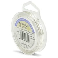 Artistic Wire 18-GaugeTarnish Resistant Silver Wire, 20-Feet
