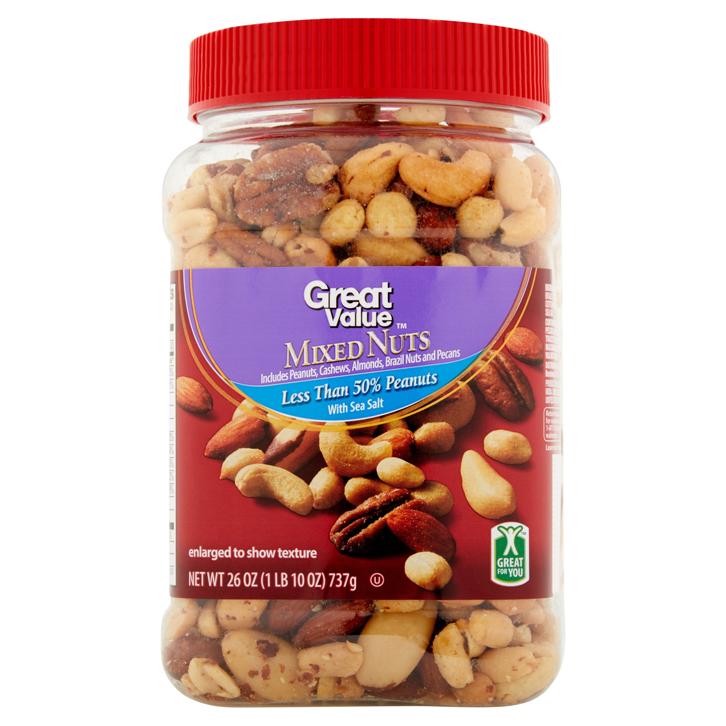 Great Value Mixed Nuts, 26 oz by Wal-Mart Stores, Inc.