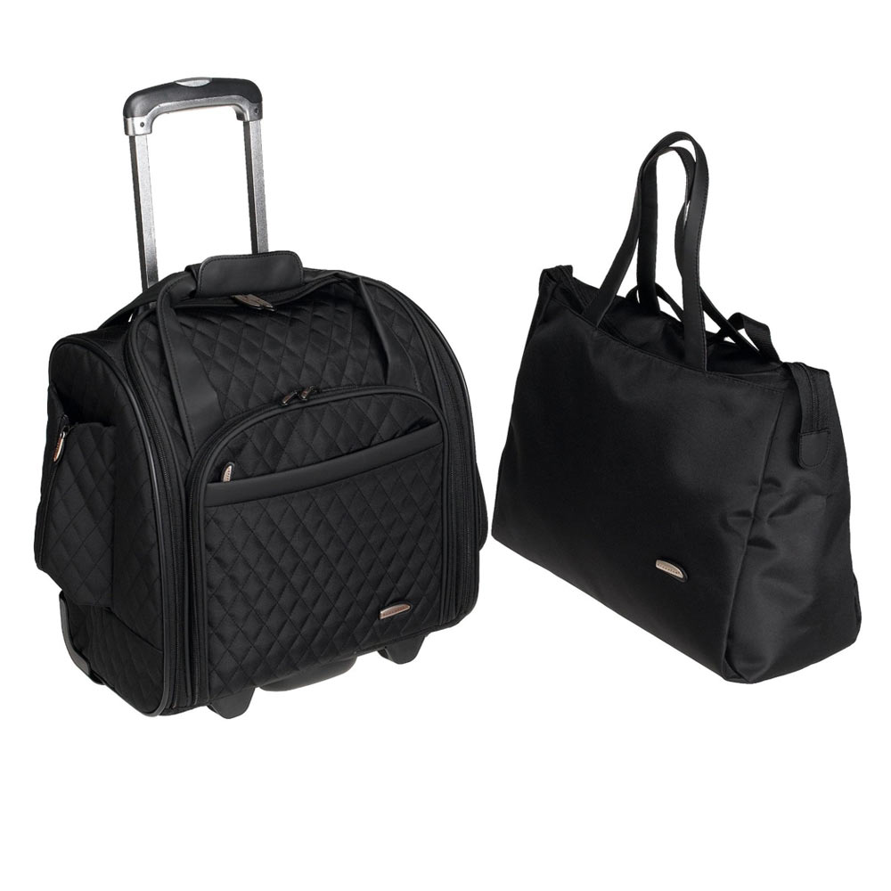 Travelon Lugggage Travel Suitcase Rolling Wheeled Carry On Case 2 Piece Bag Lady