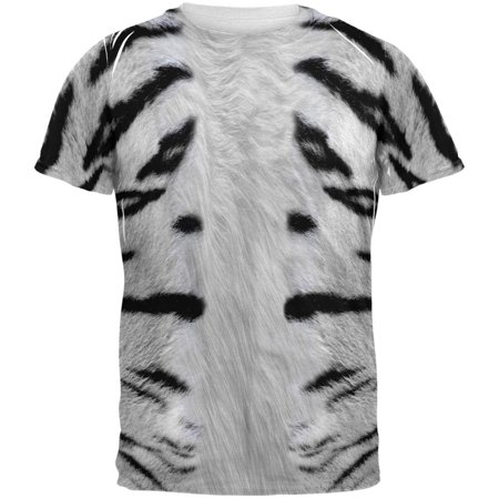 Siberian Tiger Snap (White Siberian Tiger Costume All Over Adult T-Shirt )