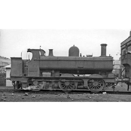LAMINATED POSTER GWR Pannier Tank 0-6-0T at Croes Newydd Depot, Wrexham. This 1501 Class 0-6-0T, No. 1532, dates back Poster Print 24 x 36
