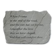 When I Come To The End Of The Road Memorial Stone