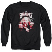 IZombie Brains And Beauty Mens Crew Neck Sweatshirt