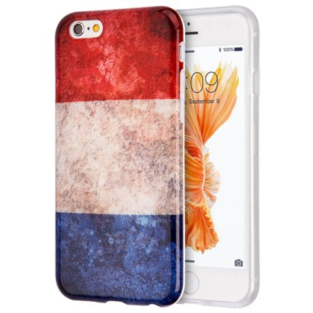 Insten Patriotic Vintage Flag Series Imd TPU Rubber Skin Gel Case For Apple iPhone 6 / 6s - France - Halloween Series Imdb