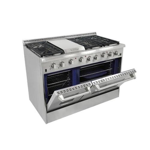 Thor Kitchen HRG4808U 48 in. 6 Burner Gas Range With Double Oven