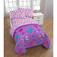 JoJo Siwa Dream Believe Purple Kids Reversible Comforter Set