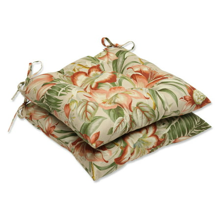 Pillow Perfect Outdoor/ Indoor Botanical Glow Tiger Stripe Wrought Iron Seat Cushion (Set of 2) ()