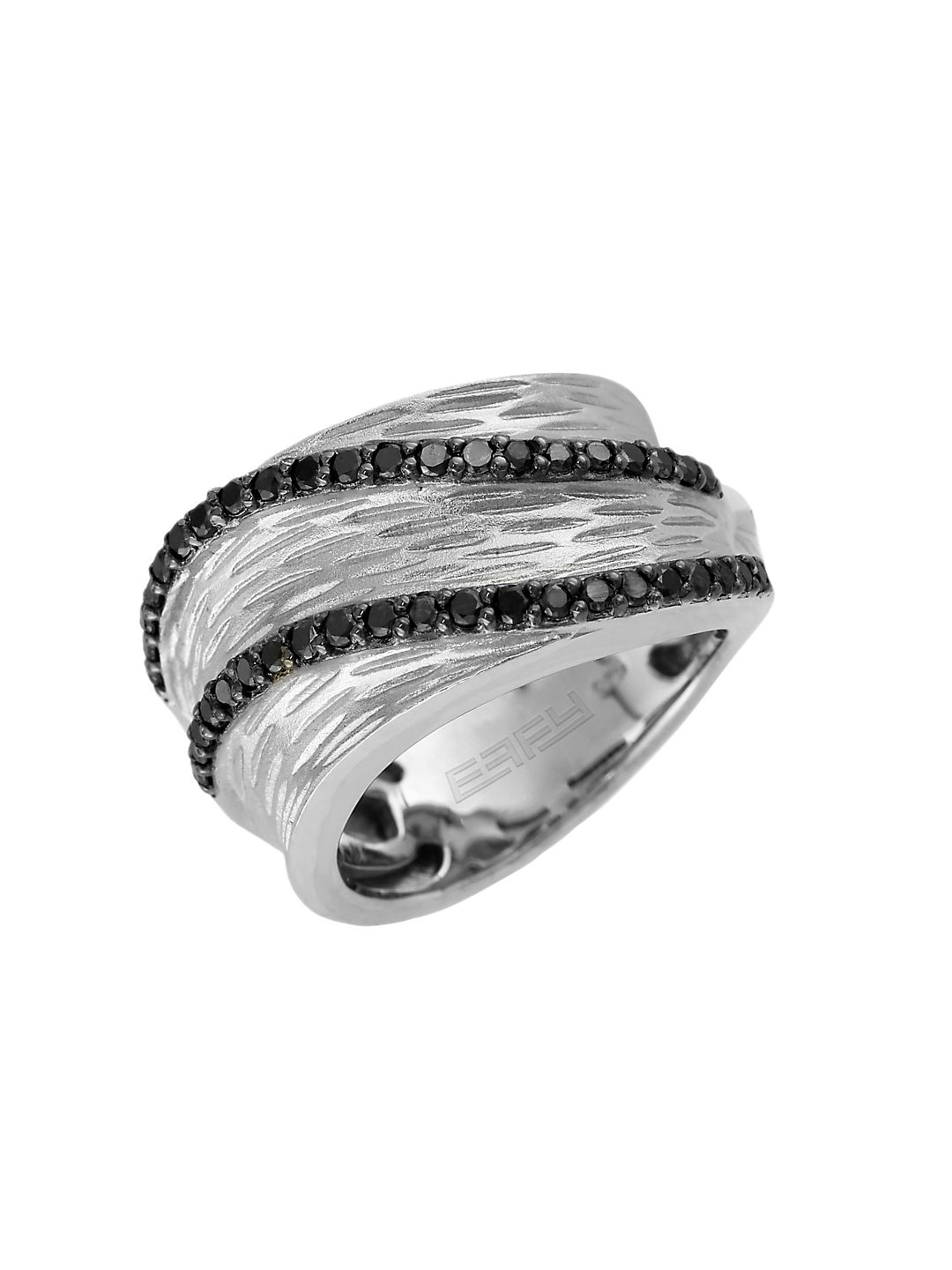 Final Call Black Diamond & Sterling Silver Ring