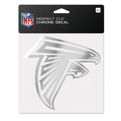 Atlanta Falcons 6x6 Perfect Cut Decal - Chrome