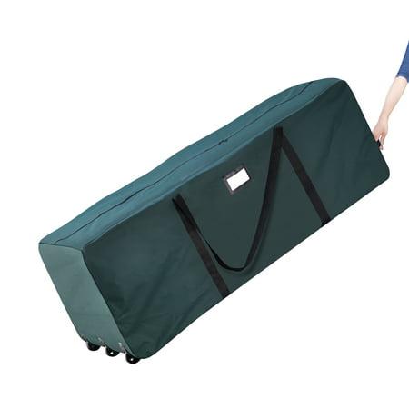 Elf Stor Premium Green Rolling Christmas Tree Storage Duffel Bag for 9 Ft Tree