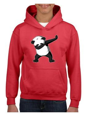 Dancing Panda Unisex Hoodie For Girls and Boys Youth Sweatshirt