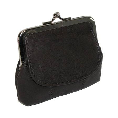 Size one size Leather Double Compartment Coin Purse