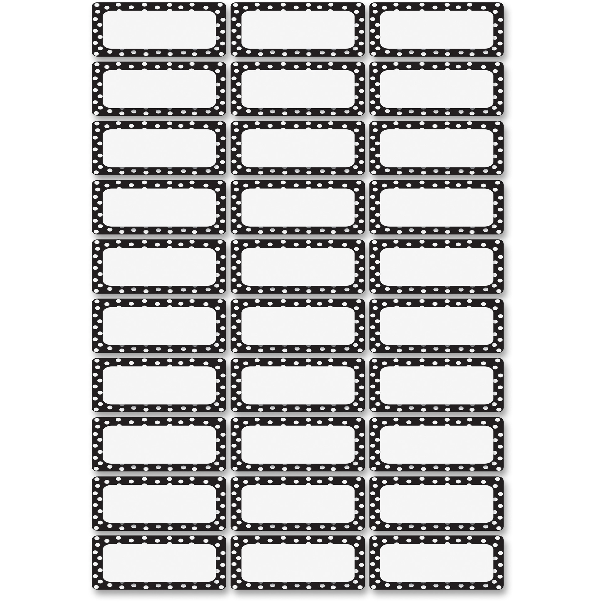 Ashley Dry Erase B W Dots Nameplate Magnets by Ashley Productions, Inc