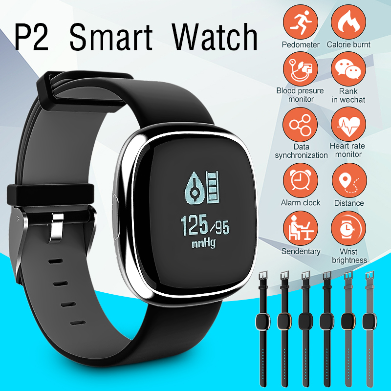 Waterproof bluetooth Smart Watch Wristband Bracelet Sports Health Fitness Tracker Pedometer with Blood Heart Rate Monitors Pressure Heart Rate for IOS Android phone Christmas Gifts