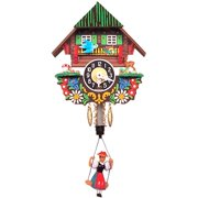Black Forest Chalet Carved Wall Clock