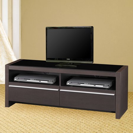Contemporary Cappuccino TV Console for TVs up to 50