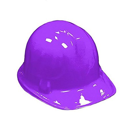 Childrens PURPLE Plastic Construction Hard Hats - 12 Pack