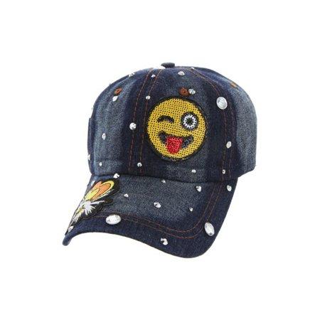 Top Headwear Studded Winking Eye Baseball Cap - image 1 of 1