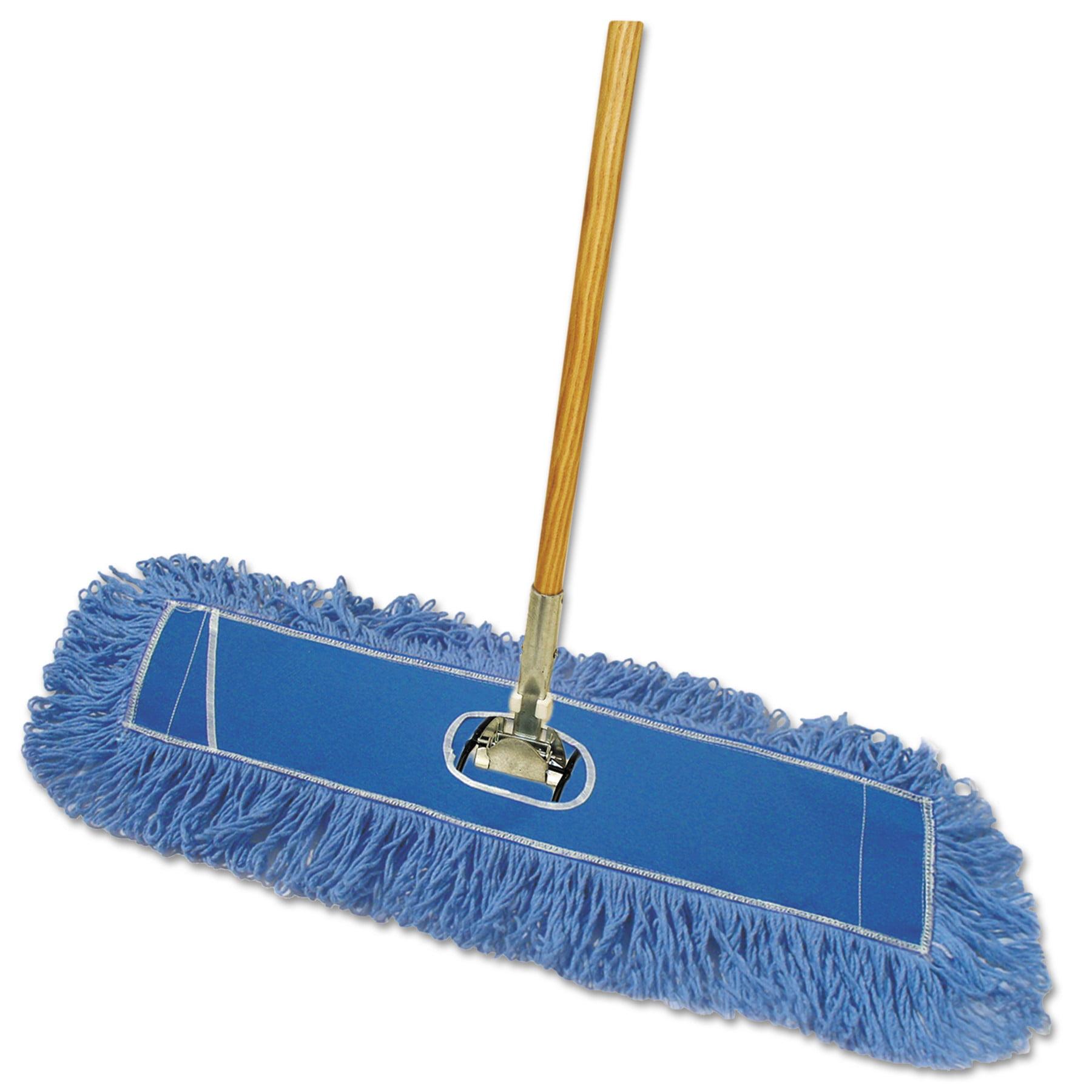 "Boardwalk Looped-End Dust Mop Kit, 36 x 5, 60"" Metal/Wood Handle, Blue/Natural -BWKHL365BSPC"