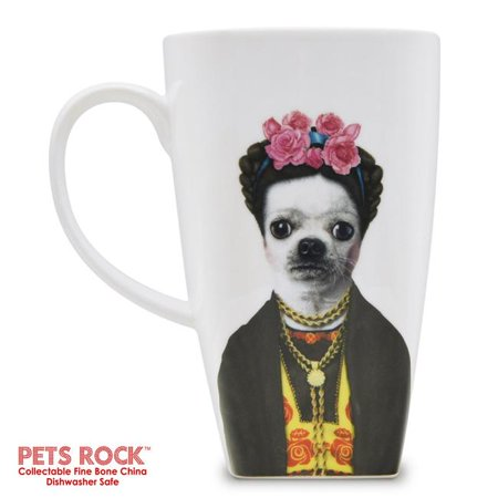 Empire Art Direct MUG-PR044-20 20 oz Pets Rock Mexico Collectible Fine Bone China Coffee Mug - White