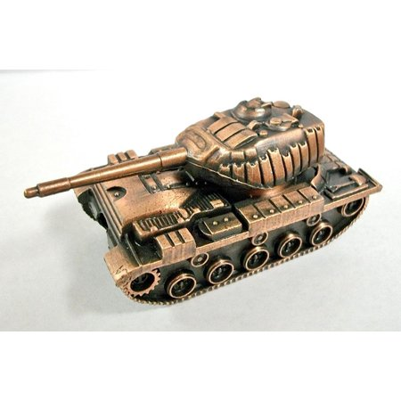 Sherman Tank Die Cast Metal Collectible Pencil Sharpener (Top Mounted Sharpener)